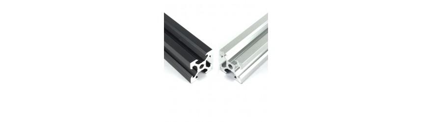 Profilé aluminium V-SLOT 20 x 20 fente 6 mm