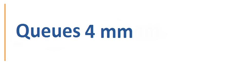 Fraises avec une queue de 4 mm