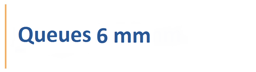 Fraises avec une queue de 6 mm